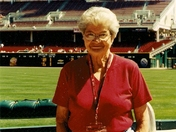 Helen Burgess at Great American Ball Park