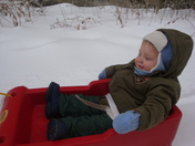 Sledding for the first time!