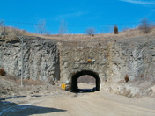 man made tunnel under tracks