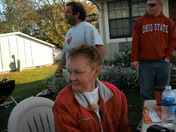 Cornhole party in October 2008