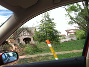 damage after storm on sat