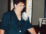 MY MOM AT MY SISTERS WEDDING