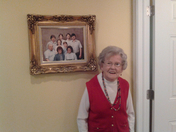 my grandmother 103 today going to the reds game