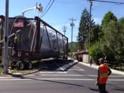 Tanker moves thru cleves