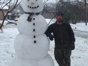 My awesome snowman!!