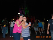 At Disney World with my mom