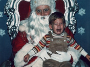 A young Jason Guy with Santa