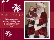 Jason Guy's daughter, Quinn Katherine Guy, meets Santa for the first time
