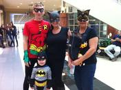 The Skiles family as bats