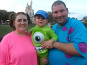 The Ollendorff family as Monsters Inc
