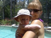 BEN & MOM POOL SIDE