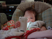 Olivia and her iPhone