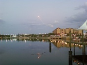 Shuttle launch over Cranes Roost