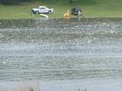 Fuel spill on Lake Sherwood