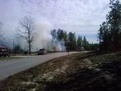brush fire in Marion Oaks