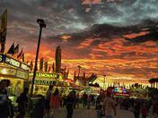 Volusia Cpunty Fair Opening night Sunset