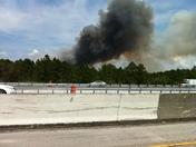 Fire east of I-95