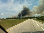 Fire east of I-95 and 528