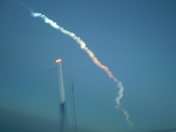 Discovery Shuttle Launch STS-119 Shot from Cessna Skylane at 7,500 feet above Da