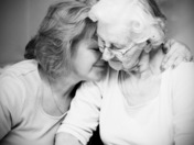 A tender moment with mom