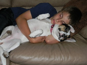 My boy and his faithful dog Nona