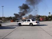 Taxi Fire at Kissimmee WalMart