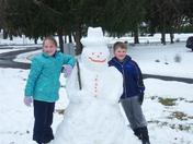 First Snowman this Winter