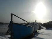 Boats in the sun.