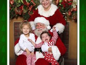 Sydney and Lily with Santa at City Park
