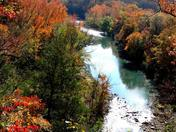 Arkansas Autumn on the Mulberry River