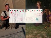 Military Couple Christmas Card