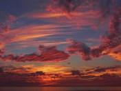 Sunset near Moss Landing, 12/17/13