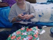 overwhelmed w wrapping presents for first time