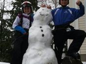 Snowman fun after Skiing!!