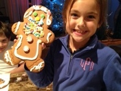 Lanie decorated her gingerbread girl