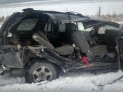 trailblazer hit by state snow plow on highway 6