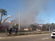 Polynesian isle blvd fire pizza place on fire