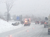Flipped car on I-89 during nor'easter 1/2/14