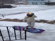 Self-taught snowboarder