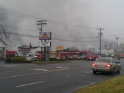 Wilkes county Bowling alley fire, whats left of it.