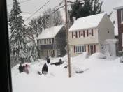 Best Part of a blizzard - neighbors helping neighbors