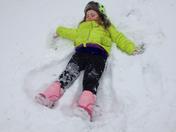 Baileys first snow angel