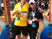 Blues Marathon pic..from couch potato to half marathoner