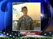 Holiday Greeting: Air Force Airman Kristopher Tosado