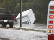 Submerged box truck