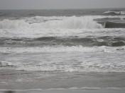 wind & rain causes rip currents, DB
