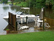 Canal Overflows Seawall