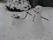 Snowman walking his dog 2