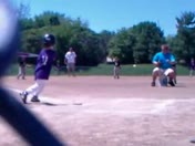 Louie hits one up the middle