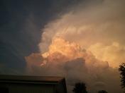 Thunderstorm east of prairie city Friday night.